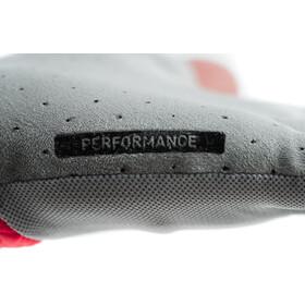 Cube Performance Short Finger Gloves, gris/rojo